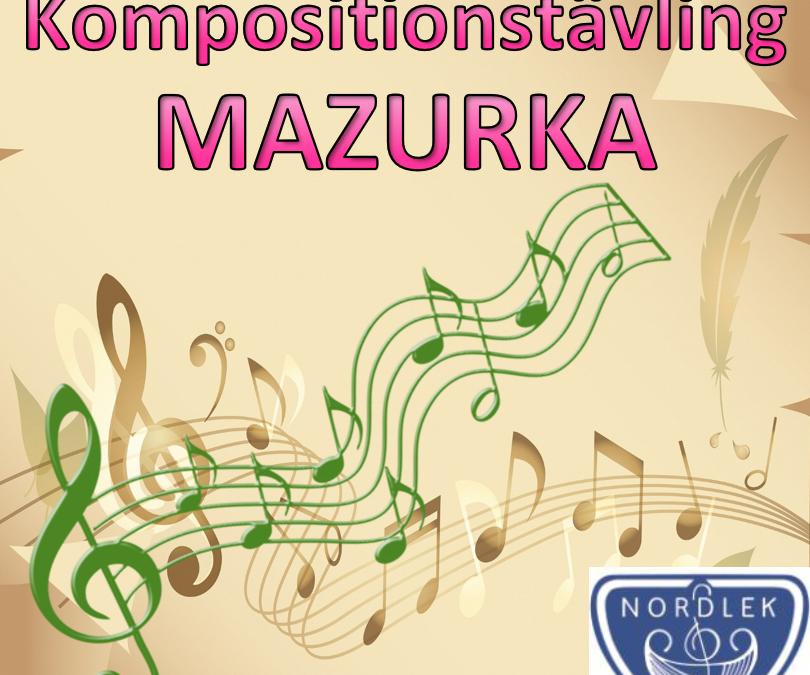 NORDLEK 2021 Kompositionstävling Mazurka